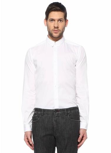 Pal Zileri Pal Zileri Lab  Dik Yaka Gömlek 101616461 Beyaz